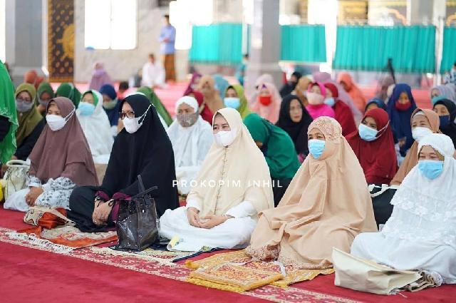 TP-PKK dan GOW Inhil Isi Ramadhan dengan Sholat Duha serta Sholat Tasbih Berjamaah