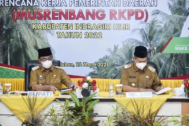 Bupati Inhil Hm Wardan Buka Musrenbang RKPD Tahun 2022
