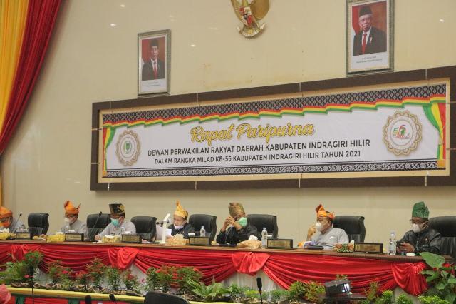 Terapkan Protokol Kesehatan, DPRD Gelar Rapat Paripurna Istimewa Milad Inhil ke 56