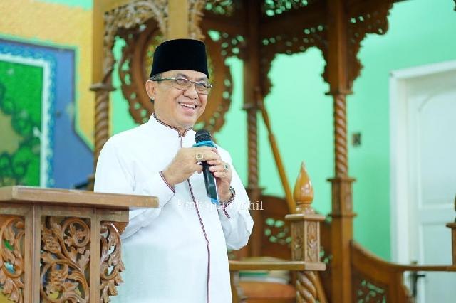 Bupati Inhil HM Wardan Safari Ramadhan ke Kecamatan Mandah